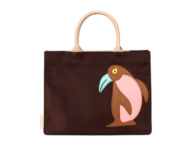 Animal Applique Bag_Penguin (Brown)