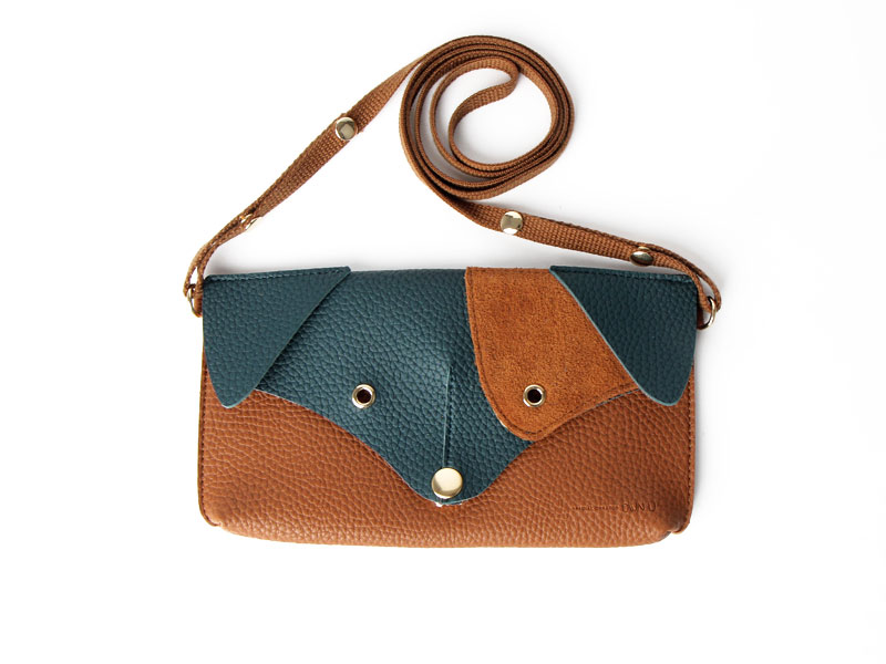 SALE Ji Won Dachshund Mini Bag Brown