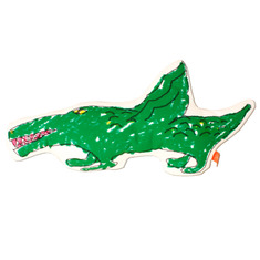 ANIMAL CUSHION DIY KIT - Alligator