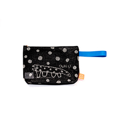 Dot Lizard Mesh Clutch (Black)