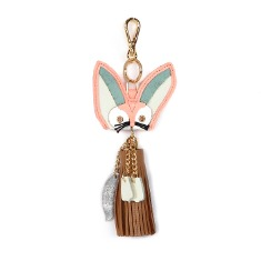 Sand Fox Keyring Baby Pink